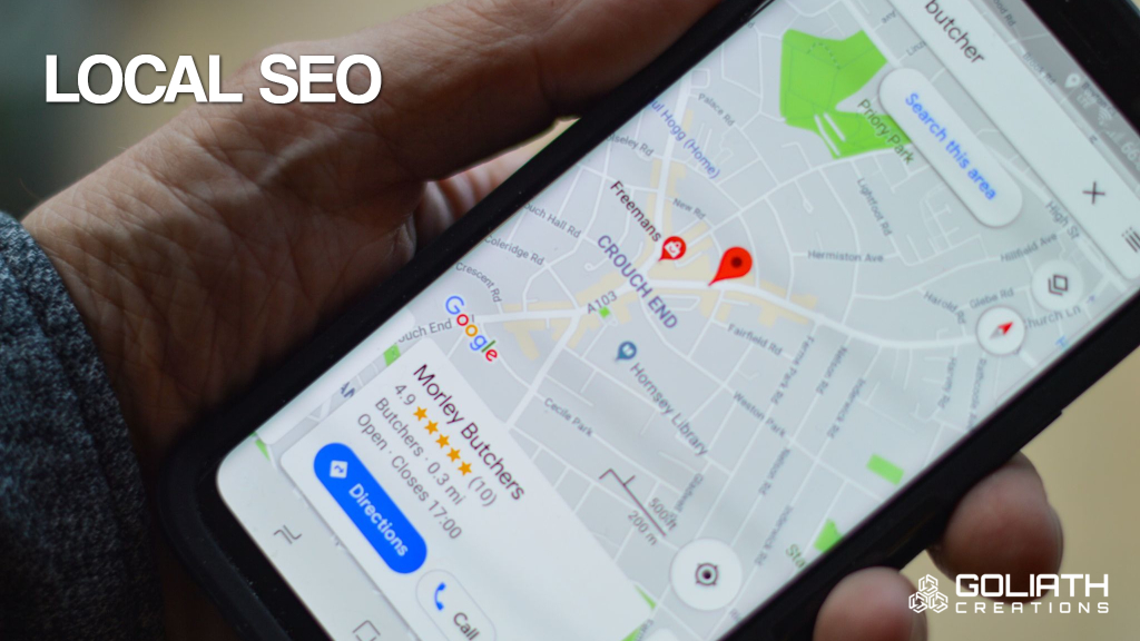 photo of Google Maps for local SEO